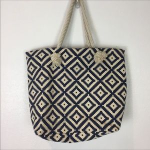 Summer & Rose canvas Rope Handle Tote